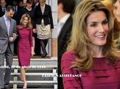 Letizia luce cuarta aclamado vestido magenta