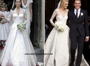 Caroline Trentini casa réplica vestido novia Katherine Middleton