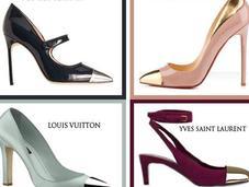 Tendencias: Zapatos punta metalizada