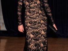 Charlize Theron, Elle McPherson Longoria cena Corresponsales Casa Blanca