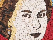 retrato dulce Reina Isabel Inglaterra, está hecho 2012 capcakes