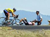 caída Beloki campo través Armstrong, Tour Francia 2003