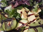 Ensalada manzana, kiwi, aguacate vinagre modena higos