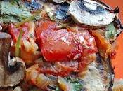 Receta vegetariana: berenjenas rellenas setas nueces