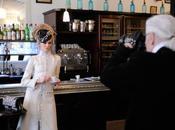 Espiando Karl Lagerfeld Making Paris-Bombay campaign