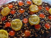 Coca Sant Joan trufa, frutas confitada chocolate