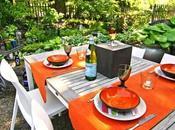 Decorar mesa jardín verano