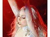 Lady Gaga brillante catsuit