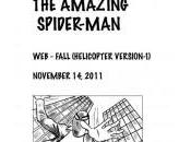 Parte storyboard Amazing Spider-Man