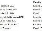 Horarios primera jornada liga segunda división 2012/2013
