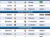 Partidos televisados primera jornada liga (ninguno abierto)