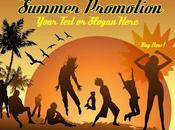Poster publicitario para verano