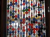 Cortinas para puertas hechas tapones plástico