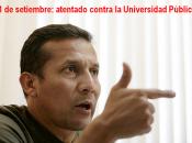 setiembre: atentado contra universidad pública Perú