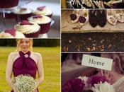 Colour Monday Burgundy wedding