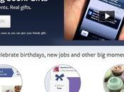 Gifts, propuesta Facebook para enviar regalos nuestros amigos contactos