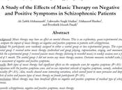 Efectos Musicoterapia síntomas negativos positivos personas Esquizofrenia Zadeh col.