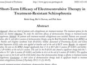 Eficacia corto plazo Terapia Electroconvulsiva Esquizofrenia resistente tratamiento Garg col.