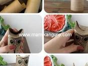 Lechuzas Recicladas: para decorar hacer títeres cartón