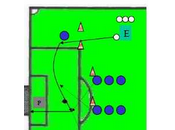 Entrenamiento fútbol: centros, remates acciones combinativas