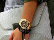 Pulseras calaveras reloj dorado look militar manicura permanente post popurrí!!!!