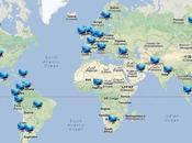 Tworldy, tendencias Twitter ciudad país Google Maps