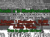 Manifestación Collado Villalba. ¡Por libertades democráticas! ¡Basta represión!