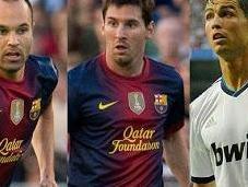 finalistas Balón 2012: Messi, Cristiano Iniesta