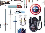 Armas famosas comics, videojuegos, peliculas series