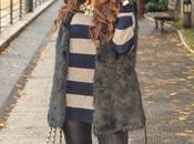 Azul negro rayas pelo