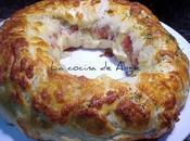 Rosca jamón serrano queso