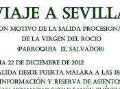 Viaje Sevilla motivo salida procesional Virgen Rocío Salvador