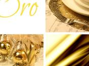 cuatro mesas navidad: four Christmas tables: Gold