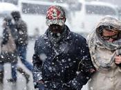 Fuertes nevadas azotan Estambul