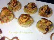 Pastelitos guacamole mejillón Pedro Ximénez