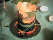 porta velas rústico hojas