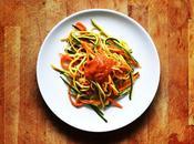 Tricolore spaghettis vegetales