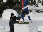 Estatua nieve Lionel Messi, Croacia