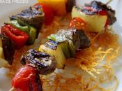 Brochetas Filete Vegetales.