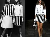Blanco negro, rayas, damero. Courrèges Mary Quant