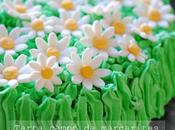 Tarta campo margaritas [feliz cumpleaños mamá]