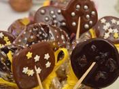 Piruletas chocolate