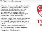 diario inventó entrevista árbitro çakir, según federación turca