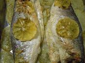 Lubina horneada limón