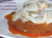 Bacalao confitado cebolla pimentón