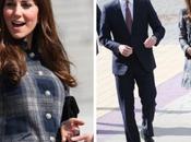 Kate Middleton visita Escocia vestida cuadros escoceses