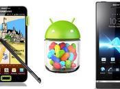 telefonos android Sony Xperia Samsung Galaxy Note recibirán actualizacion Jelly Bean mayo