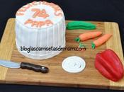 Paso paso: tarta gorro cocinero fondant