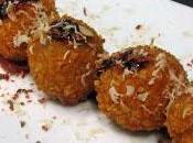 Croquetas jamón serrano, frutos secos morcilla Restaurante Romana