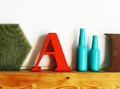 letras papel maché paper mache letters
